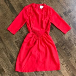 Asos Petite bright red tie front 3/4 sleeve dress